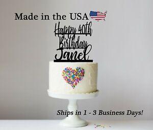 Happy Birthday Cake Topper, Acrylic, Any Age, Birthday Party,Cake Topper, LT1462