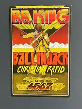 1971 B.B. King & Ball in Jack Back Original Postcard, Fillmore West