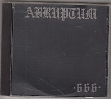 ABRUPTUM - early evil CD