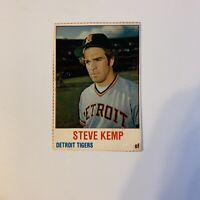 1978 Hostess Steve Kemp # 55 Detroit Tigers MLB Baseball Card Hand Cut