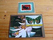 2 Hojas Bloque de mariposas ajman