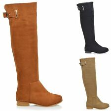 Zip Faux Suede Formal Knee High Boots for Women