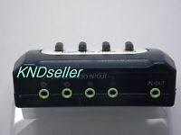 4 PORT 3.5mm STEREO Manual Sharing Switch AUX Audio Speaker selector way 4:1
