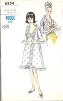 Vintage Uncut Robe & Bed Jacket Sewing Pattern 6354 Size 16