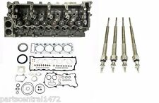 Overhaul Gasket + Cylinder Head w valves + Glow Plugs for Isuzu 4.8L 4HE1 Engine
