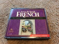 THE Learning Company LEARN TO SPEAK FRENCH 8.0 SOFTWARE 4 CD WINDOWS