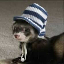 MARSHALL PET FERRET VISOR STRIPED WINTER HAT PET HEADWEAR. FREE SHIPPING TO USA