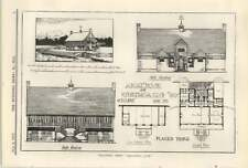 1913 Design And Plans For A Boat House And Gymkhana Club, By Eclipse
