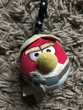 """Angry Birds Star Wars 3"""" Luke Skywalker Clip on Toy Keyring - Good Condition"""