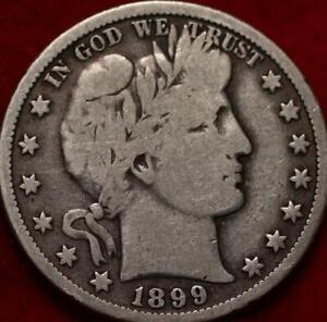1899-O New Orleans Mint Silver Barber Half Dollar