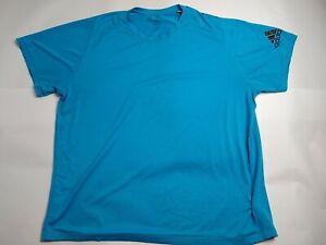 Men's 2XL Short Sleeve adidas Freelift T-Shirt - Blue