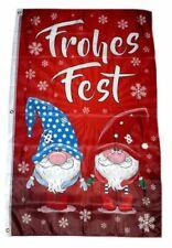 Flagge / Fahne Frohes Fest Wichtel Weihnachten Hissflagge 90 x 150 cm