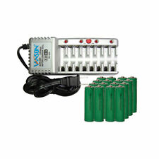 V-868 8 Bay AA & AAA Charger + 16 AA NiMH Batteries (1500 mAh)