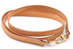 """Authentic Louis Vuitton Leather Shoulder Strap Beige 47"""" LV D0630"""