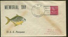 1939 Mare Island California U.S.S. Pompano Memorial Day Postal Cover