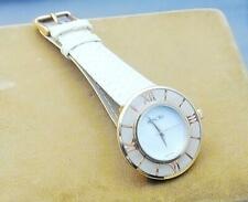 Honora White Mop Dial Rose Tone Stainless Wrist Watch Pangolin Pattern Band New