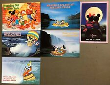 # T1374   WALT DISNEY  CHARACTERS  POSTCARD LOT, 6  DIF. CARDS,   MICKEY MOUSE