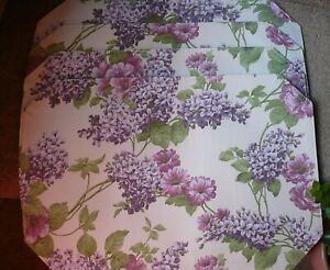 Set of 4 Fabric Placemats, Better Home, Lilacs, Purple Flowers, Spring,