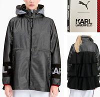 Puma x Karl Lagerfeld Jacket Windbreaker Limited Edition Women Sz L NWT $260