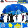 Large 8 Ft Kid Children Rainbow Parachute Indoor Outdoor Kid Play Game Toy New