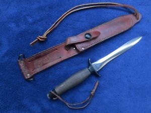 SUPER RARE ORIGINAL GERBER MK2 KNIFE AND SHEATH MADE IN 1968 CANTED BLADE