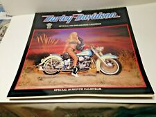 1990 HARLEY DAVIDSON MOTORCYCLES Sexy Girls Calendar_Special 16 Month Edition