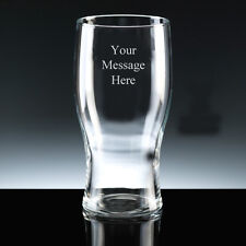 PERSONALISED 1 Pint Beer Glass FREE ENGRAVING Any Message Engraved Birthday Gift