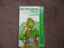 Nottinghamshire Tourist map inc. Sherwood Forest
