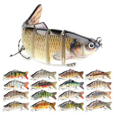 6 Section Fishing Lures Sinking Wobblers Multi Jointed Swimbait Pike Lure Hard