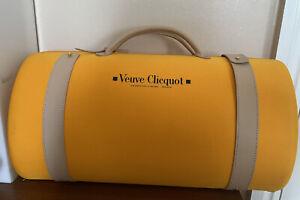 VEUVE CLICQUOT French Designer Champagne Bottle Flutes Holder Travel Carry Case