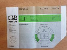 Ticket WM 1974 Spiel um Platz 3 Brasilien - Polen 6.7.1974
