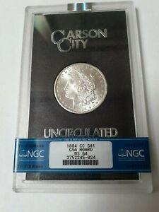 1884-CC Morgan Silver Dollar  GSA  NGC MS64