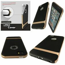 Apple iPhone 5 5S & SE Case Hybrid Flex Rigid Tech 2 Rugged Gold By Rock Cover