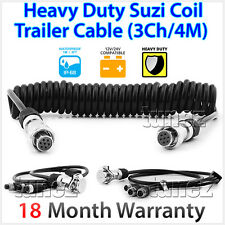 3-Channel 4 Meter Suzi Coil Trailer Cable 4PIN Connectors Truck Trailer Caravan