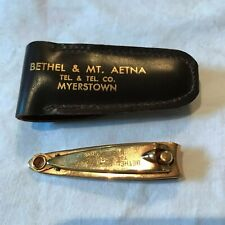 Nice Vintage Bethel & Mt. Aetna Telephone Co Advertising Nail Clipper in Case