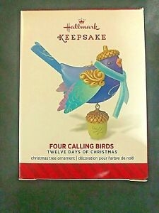 Hallmark Keepsake Ornament  2014 Four Calling Birds 12 Days of Christmas  NIB