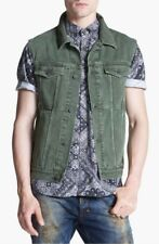 Zanerobe DiMarco Denim Vest Jacket in Military Green, Medium, Brand New with Tag