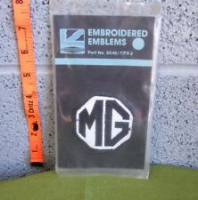 MG Car Company embroidered patch 1970s sewn British sports car NWT