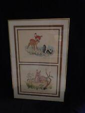"""Disney Original Lithographs Bambi Ste I thru V. Ste V """"A Mother's Love"""""""