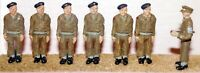 Army personnel Attention F170b UNPAINTED OO Scale Langley Models Kit Figures