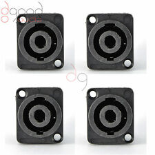 4 x Speakon 4 Pin Female Jack Compatible Audio Cable Panel Socket Connectors