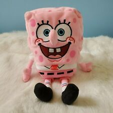 Ty Beanie Spongebob PinkPants Breast Cancer Pink Edition Rare 8""
