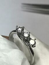 ANILLO TRILOGY ORO blanco 18 Ct CON DIAMANTE 0,66 Ct F VVS BODA - NACIMIENTO