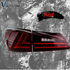 Fit For Lexus IS250 IS350 IS F 2006-2012 Tail Lights LED Red Lens Rear Lamp Pair