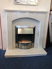 ENGLISH MADE  APPLEBY MARBLE FIRE SURROUND HEARTH & BACK PANEL