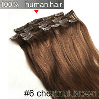 140G 120G 100G Full Head Clip in Remy Real Human Hair Extension Any Length Thick