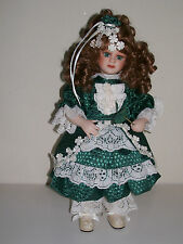 "MUSICAL PORCELAIN DOLL    Franklin Heirloom Dolls     ""Little Colleen"""