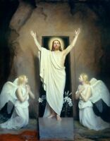 JESUS CHRIST RESURRECTION 8X10 CHRISTIAN ART GLOSSY PHOTO PICTURE