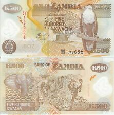 ZAMBIA 500 Kwacha Banknote World Money Currency POLYMER Bill p43f REPLACEMENT