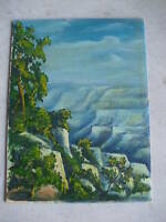 Vintage 1954 Ken Urion Oil Painting Grand Canyon LOOK